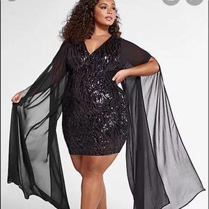Fashion to figure black sequin dress size 0
